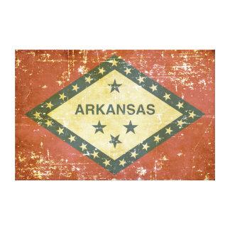 Abgenutzte patriotische Arkansas-Staats-Flagge Leinwanddruck
