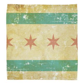 Abgenutzte patriotische Chicago-Flagge Halstuch