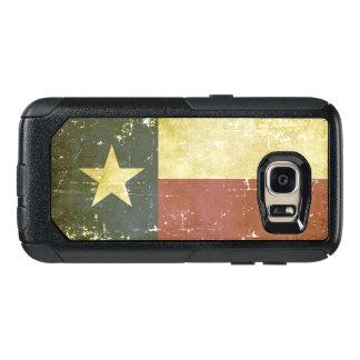 Abgenutzte patriotische Texas-Staats-Flagge OtterBox Samsung Galaxy S7 Hülle