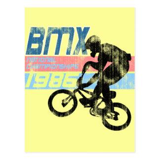 Abgenutzter Blick BMC Meisterschaften 1986 Postkarte