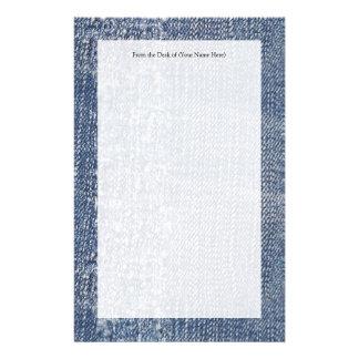 Abgenutzter Denim Jeans-Blick Personalisiertes Druckpapier