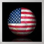 Abgenutzter Flagge-Fußball-Fußball Posterdrucke