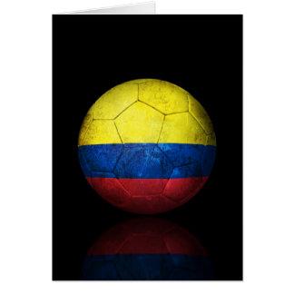 Abgenutzter kolumbianischer karte