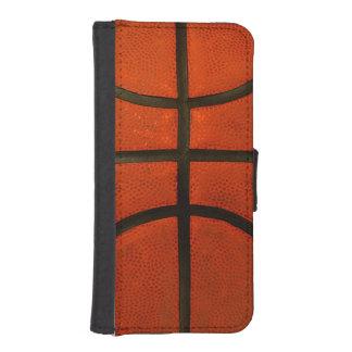 Abgenutzter orange Basketball I Phone 5 Portmonee