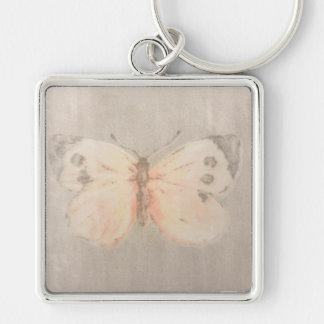 Abgenutzter Schmetterling Schlüsselanhänger