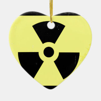 Abgenutztes radioaktives Warnsymbol Keramik Ornament