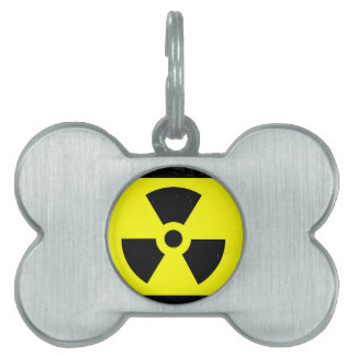 Abgenutztes radioaktives Warnsymbol Tiermarke
