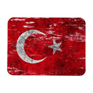 Abgeriebene und getragene türkische Flagge Flexible Magnete