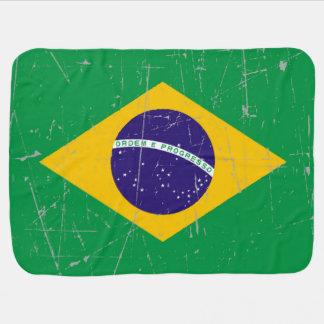Abgeriebene und verkratzte brasilianische Flagge Puckdecke