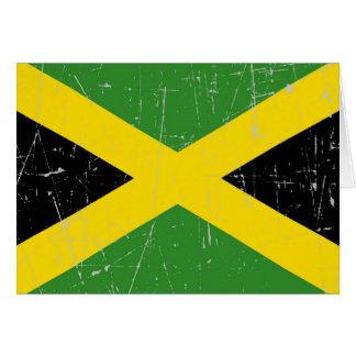 Abgeriebene und verkratzte jamaikanische Flagge Karte