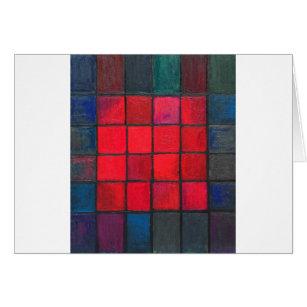 Abgeschiedene 16 rote Quadrate (geometrischer