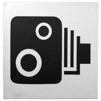 Abgeschiedene Geschwindigkeits-Kamera Stoffserviette