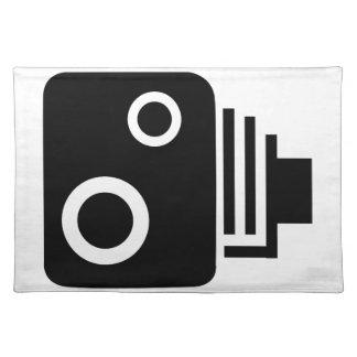 Abgeschiedene Geschwindigkeits-Kamera Tischset