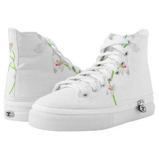 Abgeschiedene Orquideas Blüte Hoch-geschnittene Sneaker