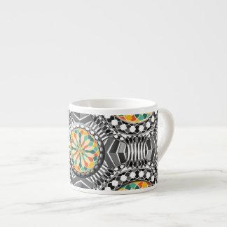 Abgeschrägtes geometrisches Muster Espressotasse