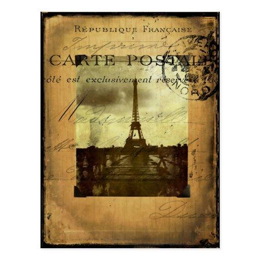 Abgestempeltes Paris Postkarte
