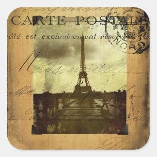 Abgestempeltes Paris Quadratischer Aufkleber