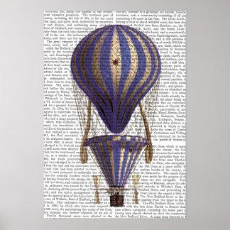 Abgestuftes Heißluft-Ballon-Blau Poster