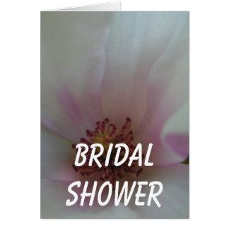 Abgetönte Herz-Hochzeits-Blume Karte