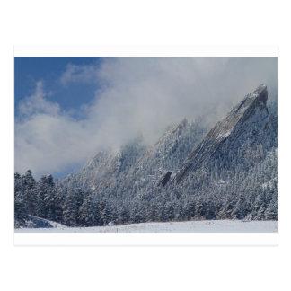Abgewischte Flatirons tiefe Wolken Boulder Postkarte
