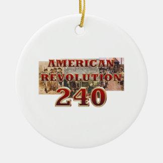 ABH amerikanische Revolutions-240. Jahrestag Rundes Keramik Ornament