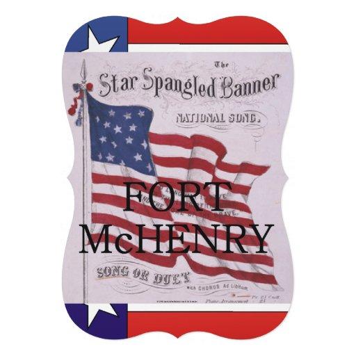 ABH Fort McHenry Individuelle Ankündigskarten