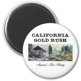ABH Kalifornien Goldrausch Runder Magnet 5,1 Cm