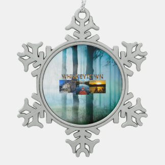 ABH Whiskeytown Schneeflocken Zinn-Ornament