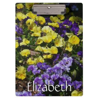 Abhang des lila und gelben Stiefmütterchens Klemmbrett