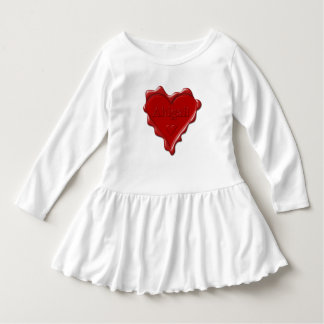 Abigail. Rotes Herzwachs-Siegel mit Namensabigail Kleid