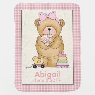 Abigails personalisierte Baby-Bärn-Decke Kinderwagendecke