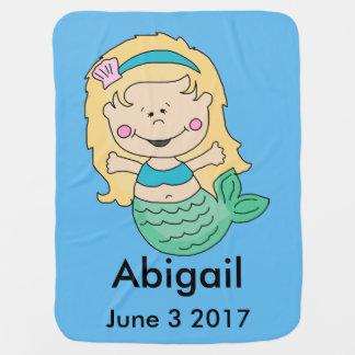 Abigails personalisierte Meerjungfrau Babydecke