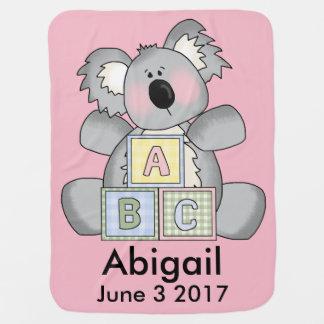 Abigails personalisierter Koala Babydecke