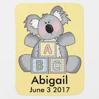 Abigails personalisierter Koala Puckdecke