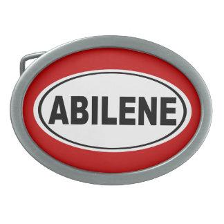 Abilene Texas Ovale Gürtelschnalle
