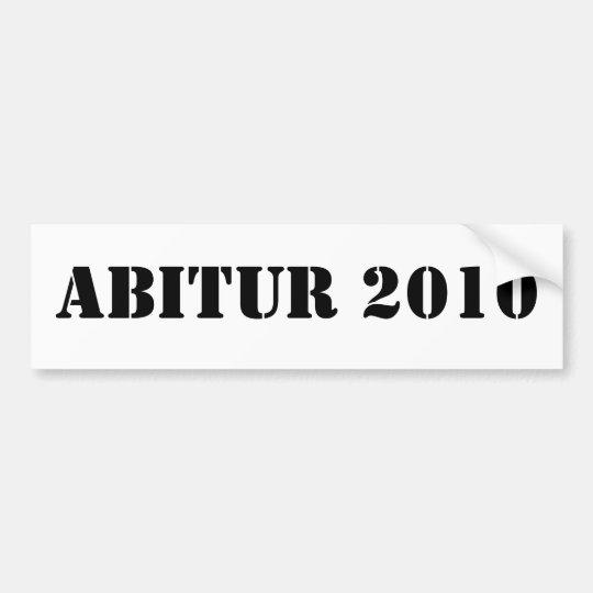 ABITUR 2010 AUTOAUFKLEBER