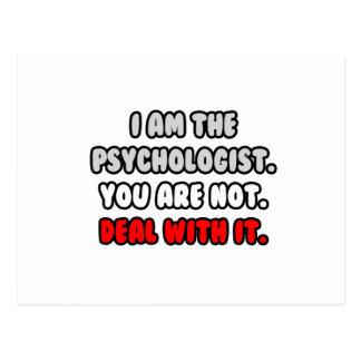 Abkommen mit ihm… lustiger Psychologe Postkarte