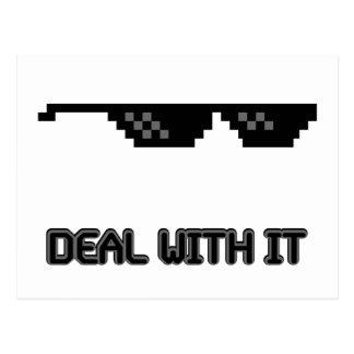 Abkommen mit ihm Sonnenbrille Postkarte
