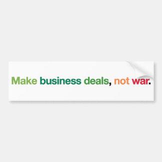 Abkommen-nicht Krieg Auto Aufkleber