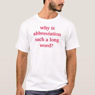 Abkürzung T-Shirt