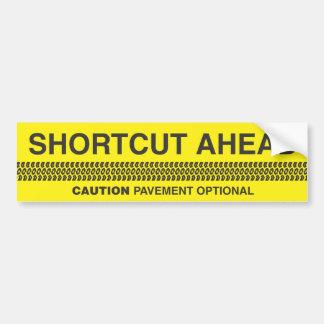 Abkürzungs-voran - Vorsicht-Plasterung optional Autoaufkleber