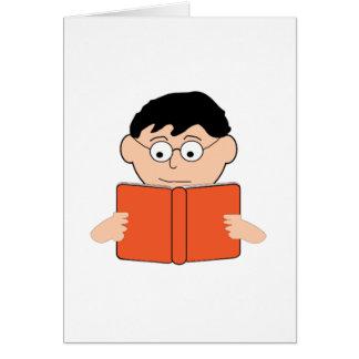 Ablesen eines Buches Karte