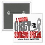 Abnutzungs-Grau des Hirntumor-I für jemand speziel Button