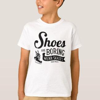 Abnutzungs-Hockey-Skate-Schuhe bohren Jugend T-Shirt