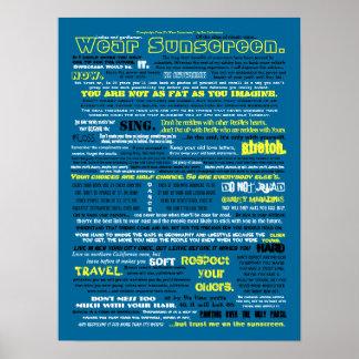 Abnutzungs-Lichtschutz Poster
