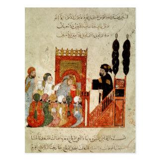 Abou Zayd, das in der Moschee predigt Postkarte