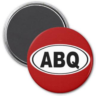 ABQ Albuquerque New Mexiko Runder Magnet 7,6 Cm