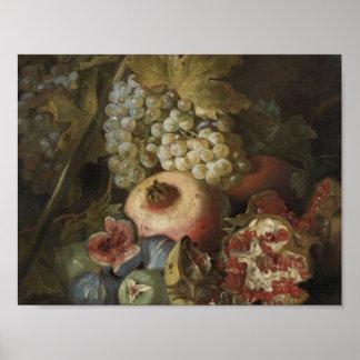 Abraham Brueghel - Stillleben mit Frucht Poster