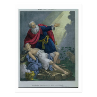 Abraham, der herauf seinen Sohn Isaac, von einem Postkarte