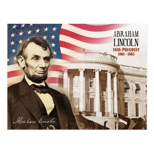 Abraham Lincoln - 16. Präsident der US Postkarte
